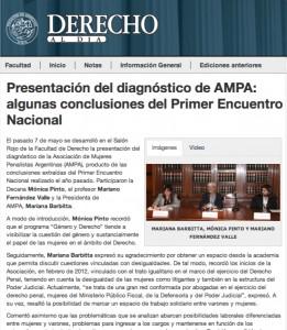Presentación del diagnóstico de AMPA: algunas conclusiones del Primer Encuentro Nacional